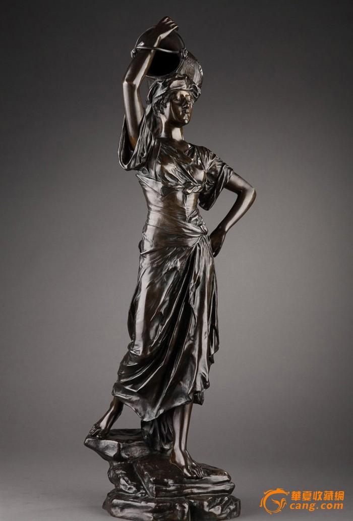 馆藏级19世纪欧洲青铜雕塑--法国大师e.drouot作品