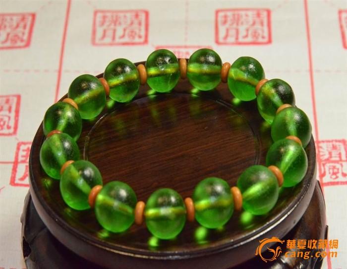 清新的淡绿色宫廷古法琉璃珠!