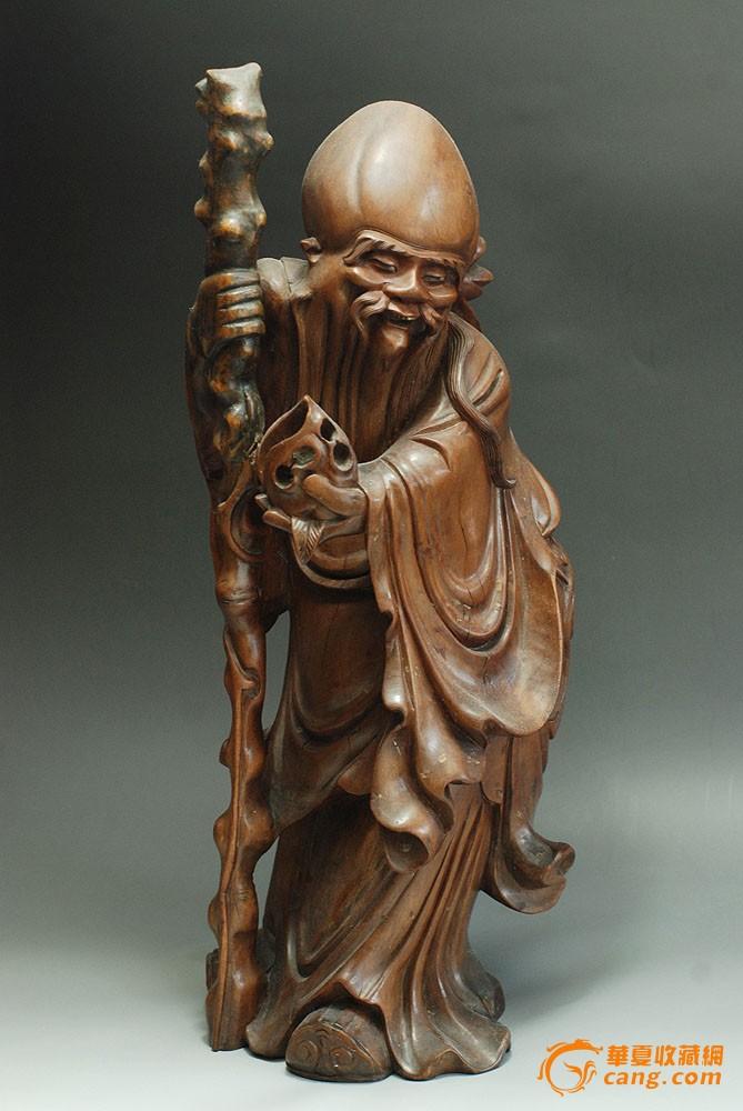 超大寿星老木雕件