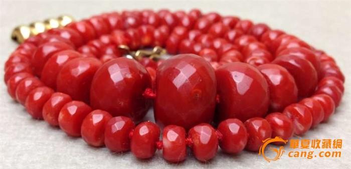 75克重18K金扣-百年珠宝刻面天然阿卡AKA牛血红珊瑚项链图4