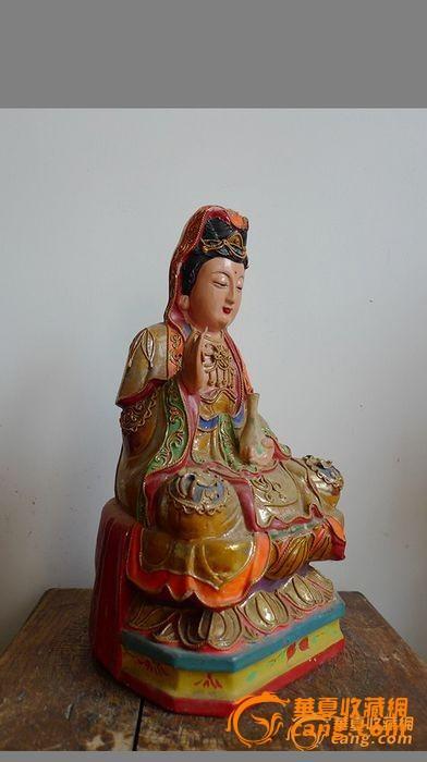 木雕观音佛像_在线拍卖