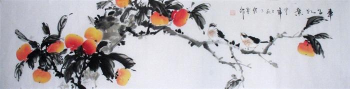 国画柿子图片欣赏